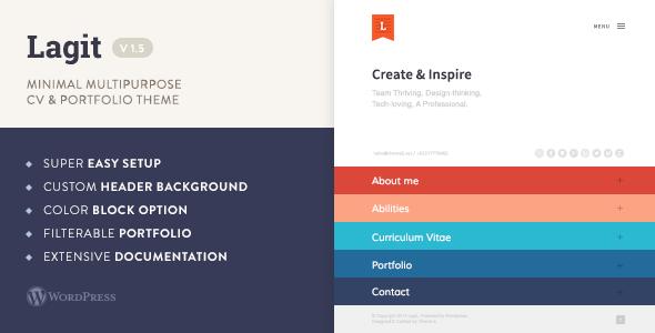 Lagit - Minimal Multipurpose CV & Portfolio Theme