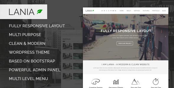 Lania - MultiPurpose WordPress Theme