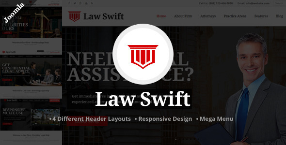 Law Swift - Lawyer & Notary Joomla Template