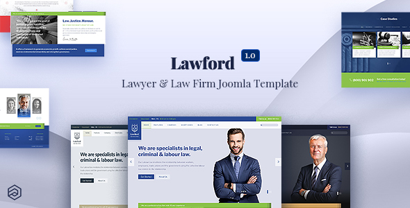 Lawford - Lawyer, Law Firm, Attorney Business Joomla Template
