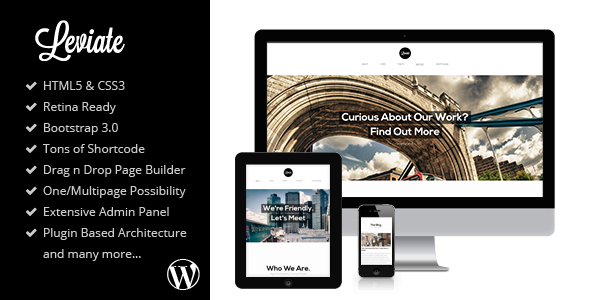 Leviate - Multipurpose HTML5 WordPress Theme