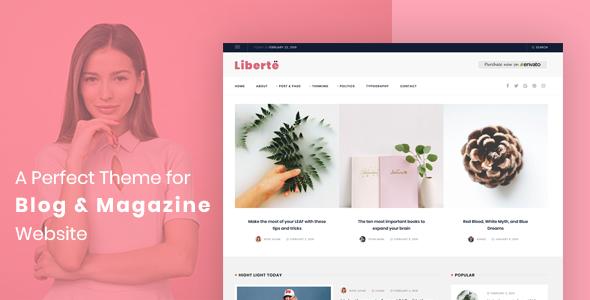 Liberte - Modern Magazine WordPress Theme