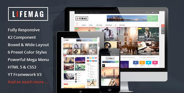 LifeMag - Responsive Magazine Joomla Template