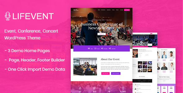 Lifevent - Conference WordPress Theme