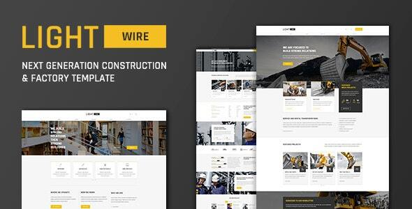 Lightwire - Construction And Industry Drupal 8 Theme