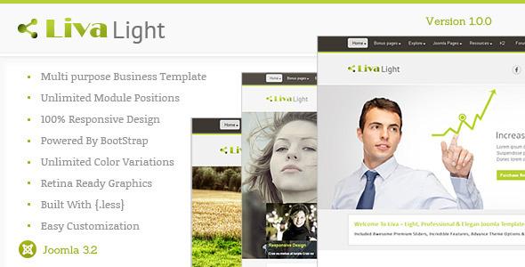 Livalight Theme - Responsive Multi-Purpose Joomla