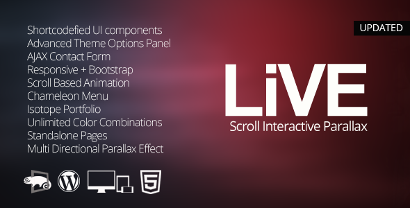 LIVE - Wordpress Interactive One Page Parallax