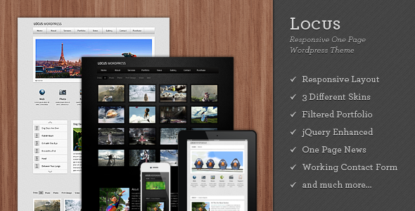 Locus - Responsive One Page Wordpress Theme