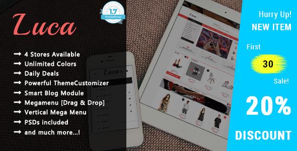 Luca - Creative Shopping Responsive PrestaShop 1.7 Theme
