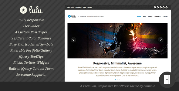 Lulu - Responsive WordPress Theme