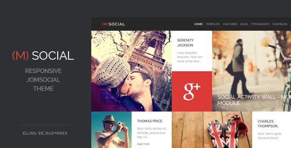 M-Social - Responsive Joomla  Theme