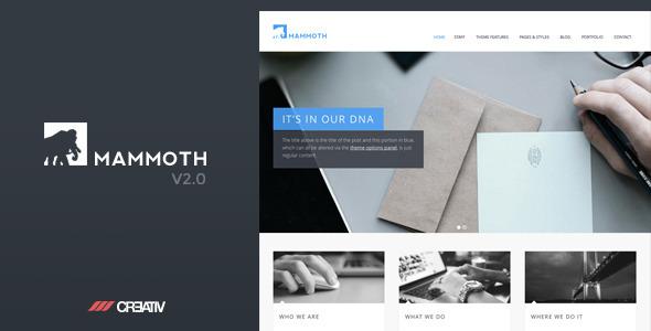 Mammoth - Responsive WordPress