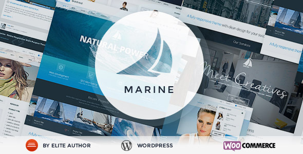 Marine Responsive WordPress Theme Multi-Purpose