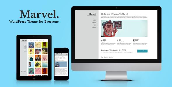 Marvel Creative Portfolio WordPress Theme