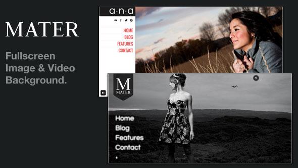 Mater - Fullscreen Image & Video Background WP