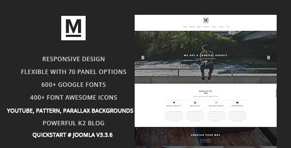 Max - Creative & Minimal One Page Joomla Template