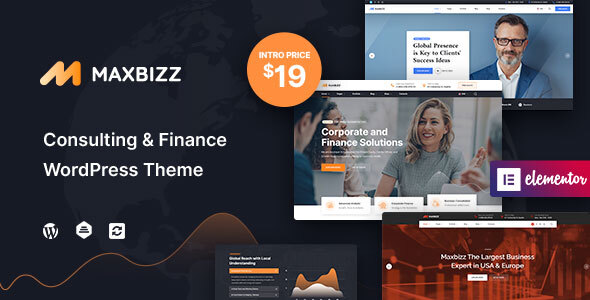 Maxbizz - Consulting & Financial Elementor