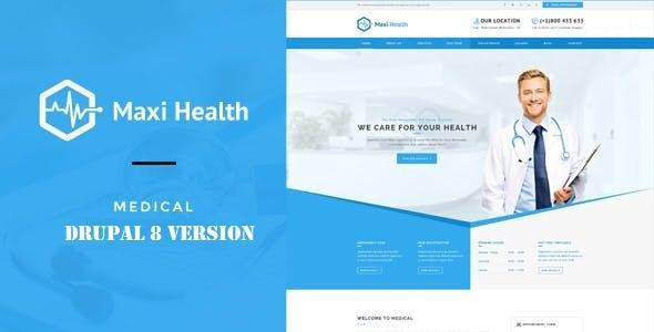 Maxi Health - Responsive Drupal 8 Theme