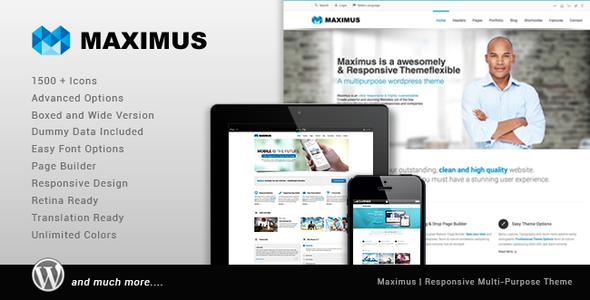 Maximus - Responsive Multi-Purpose Theme