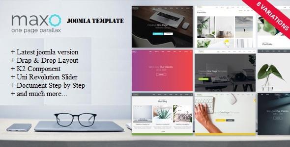 Maxo - One Page Parallax Joomla Template