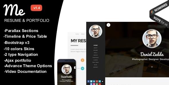 ME - Multipurpose Resume & One Page Portfolio
