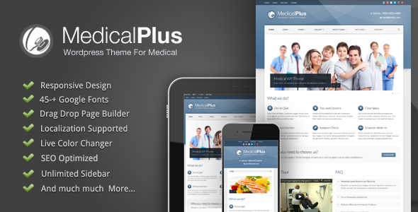 Medical Plus - Doctor / Health WordPress Theme