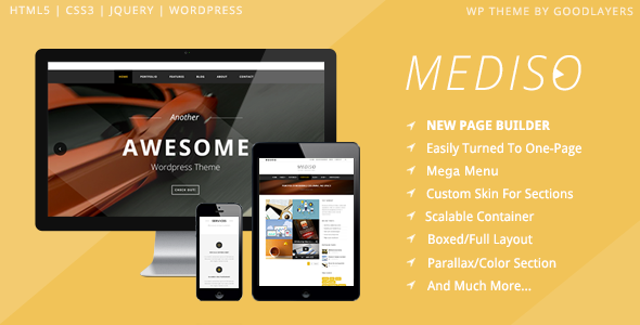 Mediso - Corporate / One-Page / Blogging WP Theme