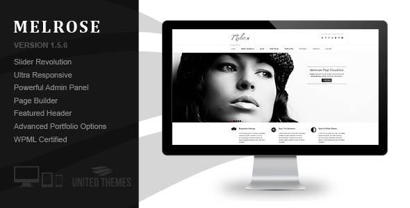 Melrose - Responsive Portfolio WordPress Theme