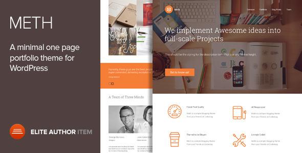 Meth - A Minimal One Page Portfolio Theme