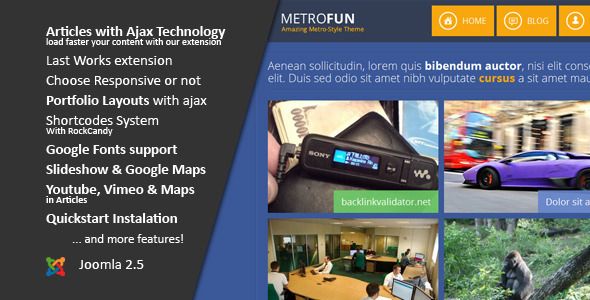 Metrofun :: Responsive Joomla Template