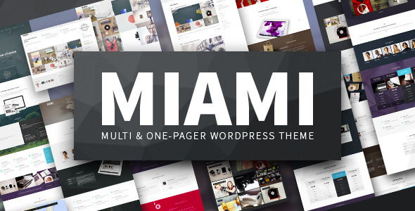 Miami - Multi & One Page WordPress Theme