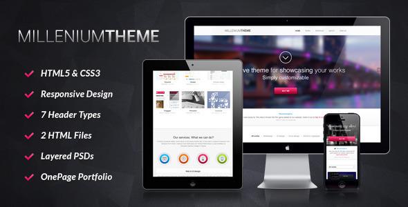 Millennium - Responsive One Page WordPress Theme