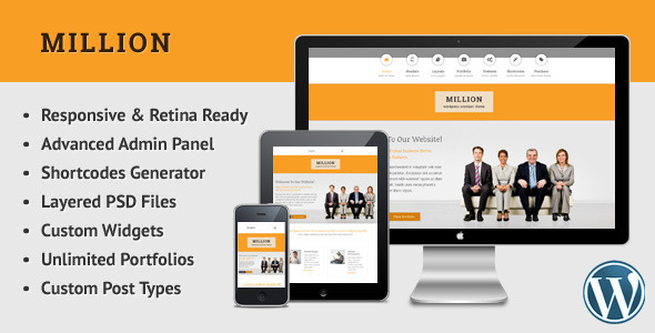 Million - Retina Responsive Multipurpose WP Theme