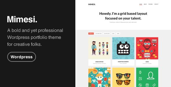 MIMESI - Creative Portfolio Theme for WordPress