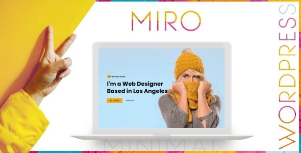 Miro - Personal Portfolio WordPress Theme