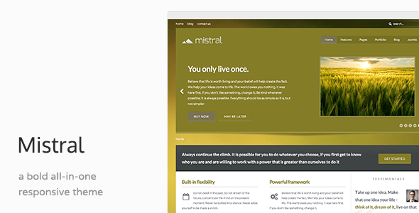 Mistral - Responsive Business Joomla Template