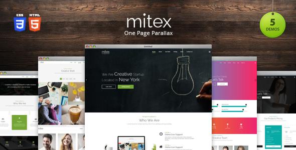 Mitex - One Page Parallax Joomla Template