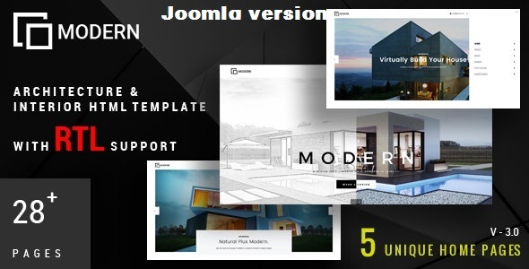 Modern - Architecture & Interior Joomla Template