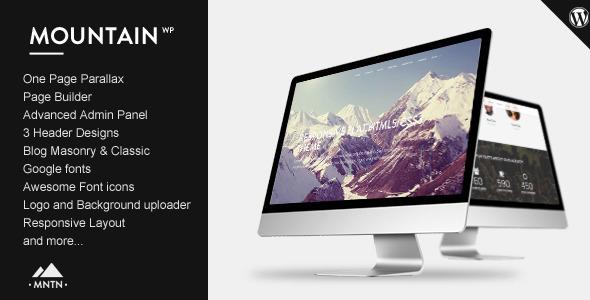 Mountain - One Page Parallax WordPress Theme