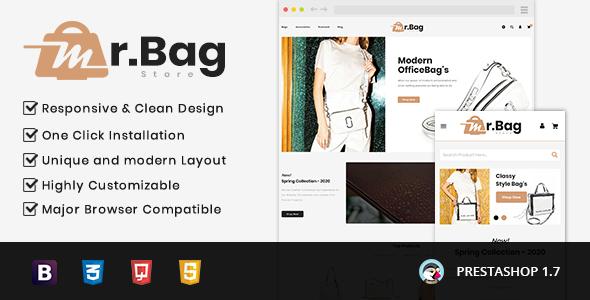 MrBag Store Prestashop 1.7 Responsive Theme