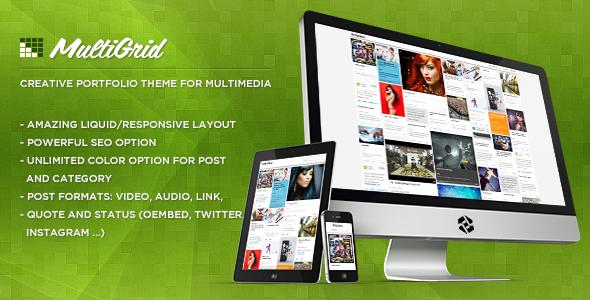 MultiGrid - Creative Portfolio, Multimedia Theme