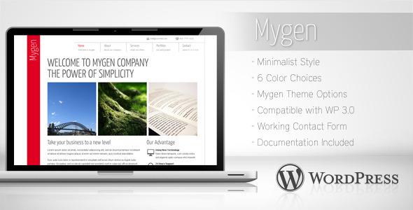 Mygen - Minimalist Business Wordpress Theme 2