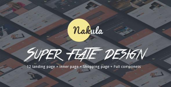 Nakula - Bootstrap Flat Marketing WordPress Template