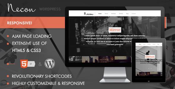 Necon WP - Responsive Onepage Theme for Creatives