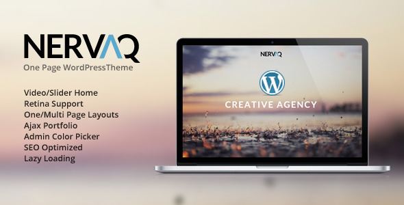 Nervaq - Responsive One Page WordPress Theme