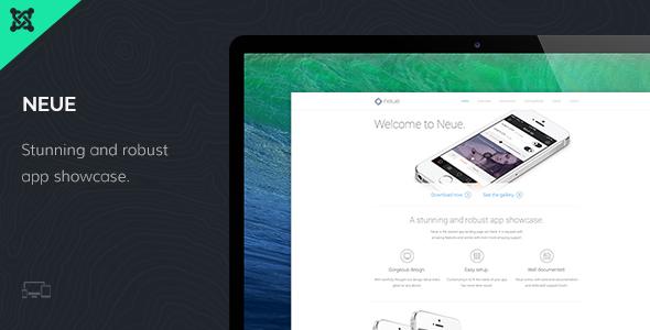 Neue App Landing Page Joomla Template