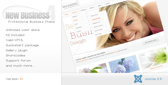 New Business 4 - Business Joomla Template
