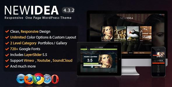 New Idea - Responsive One Page Wordpress Theme