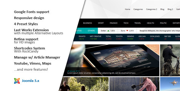 NEWS24 :: Magazine Joomla Template