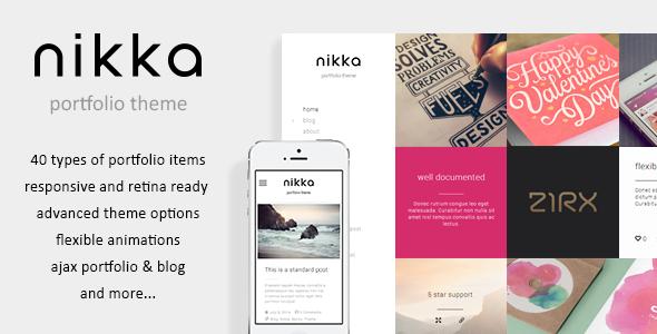 Nikka - AJAX Portfolio WordPress Theme
